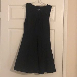 Simple fit & flare black dress